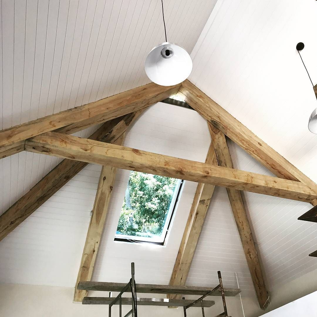 Isoboard Installed Between Timber Beams Isoboard Thermalinsulation Insulation Timber Beams Trusses Ceiling Ex House Styles Timber Beams House Design