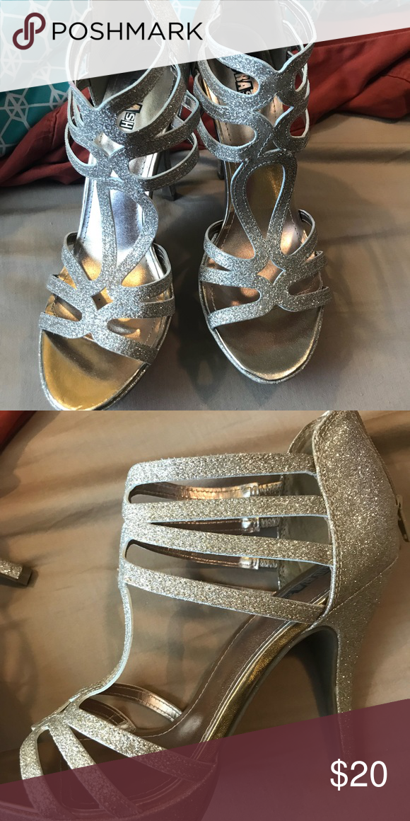 9f33bf6e795 Sparkly heels High heels work to a bachelorette party one night Payless  Shoes Heels