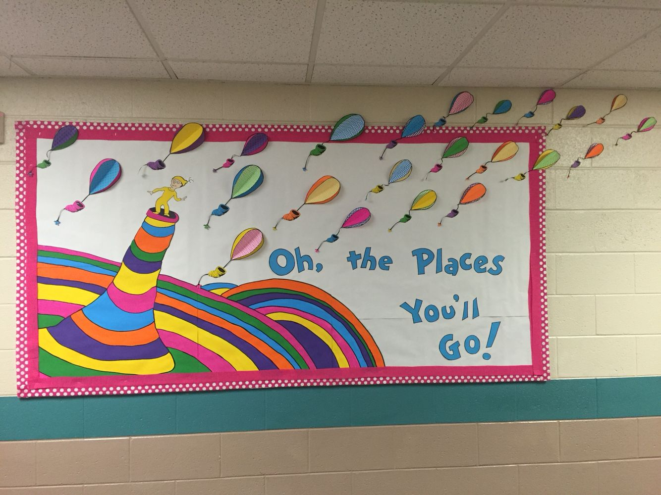 Classroom Ideas To Go ~ Oh the places you ll go dr seuss bulletin board for