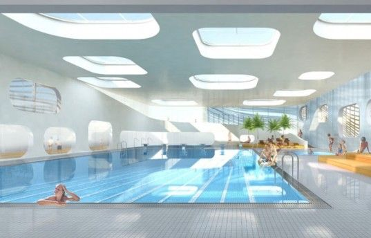 Swimming Pool Architecture Design great swimming pools design Mikou Studios Feng Shui Swimming Pool Provides A Refreshing And Spiritual Oasis In France