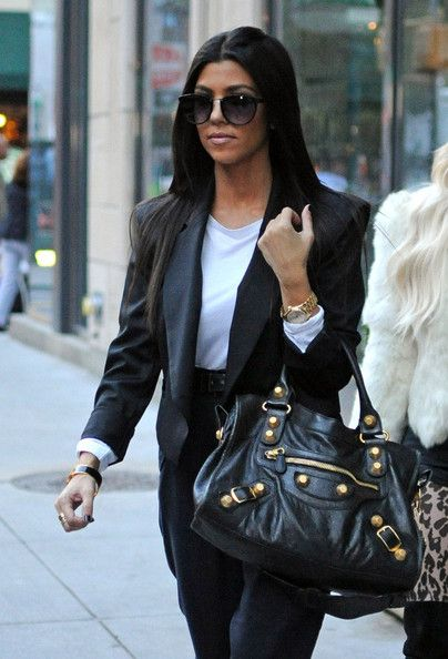 d140af5c14 Kourtney showed off her leather City bag while hitting the streets of NYC