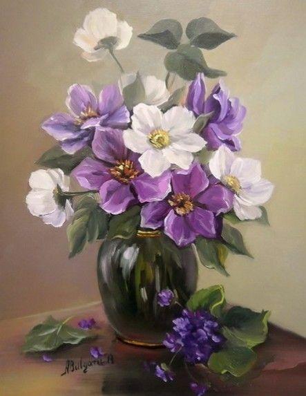 Florile zorilor. Tablou de Anca Bulgaru