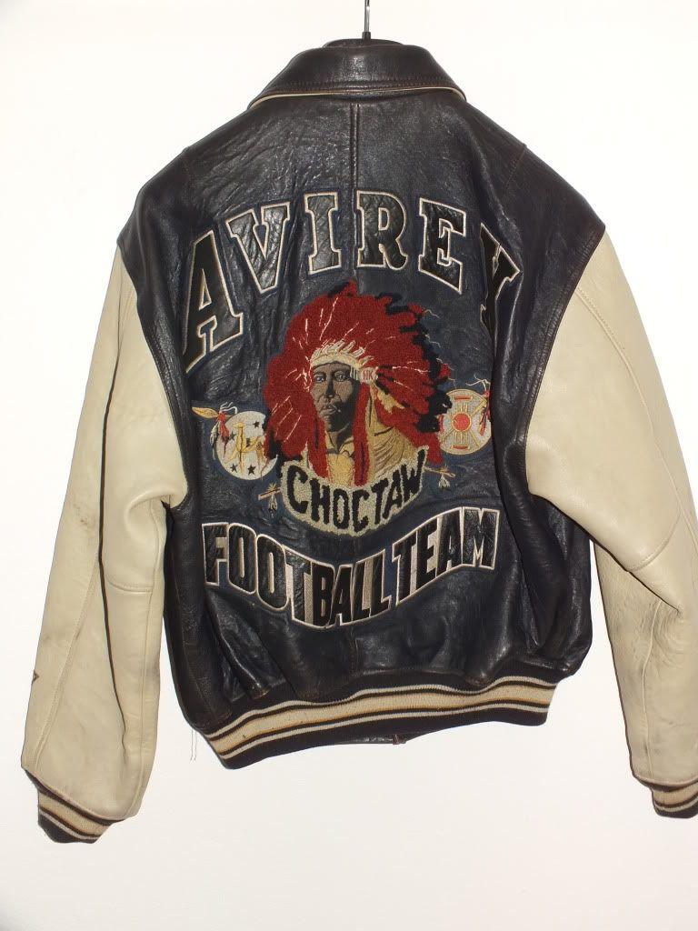 Avirex Varsity Choctaw Jacket Lederjacke Rare M Leather Jacket Outfit Men Avirex Leather Jacket Men [ 1024 x 768 Pixel ]
