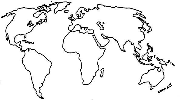 Education Purpose World Map Coloring Page Printable Color