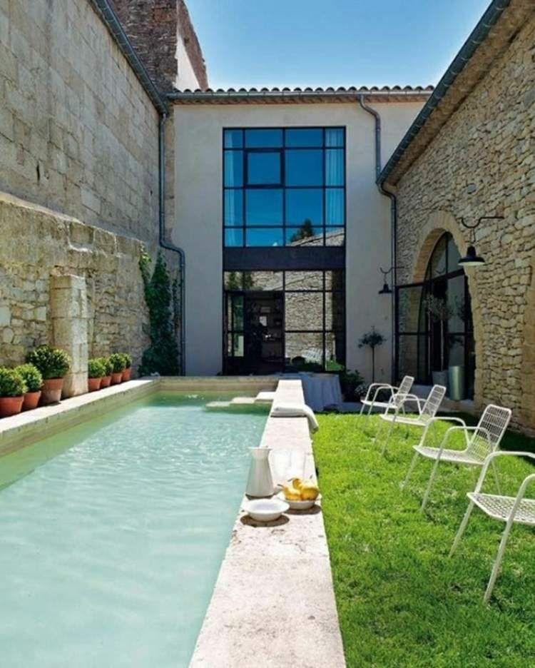 Piscine pour petit jardin \u2013 20 designs contemporains et peu - maison en beton banche