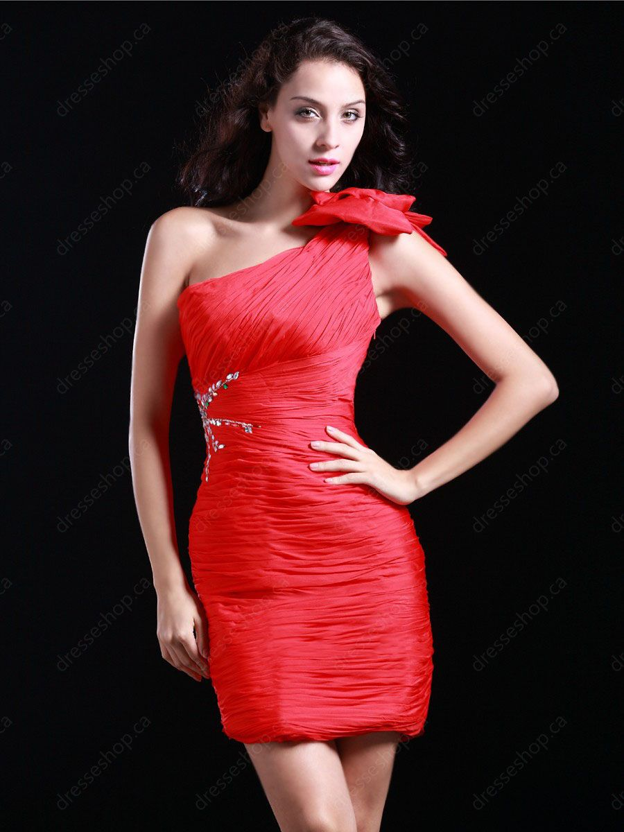 One shoulder homecoming dress at pickedresses her little