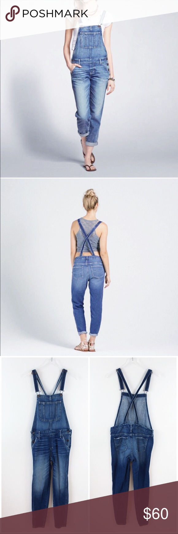 f55714f2723 Abercrombie   Fitch Allie Boyfriend Overalls These Abercrombie   Fitch  Denim Jean Allie Boyfriend Overalls feature