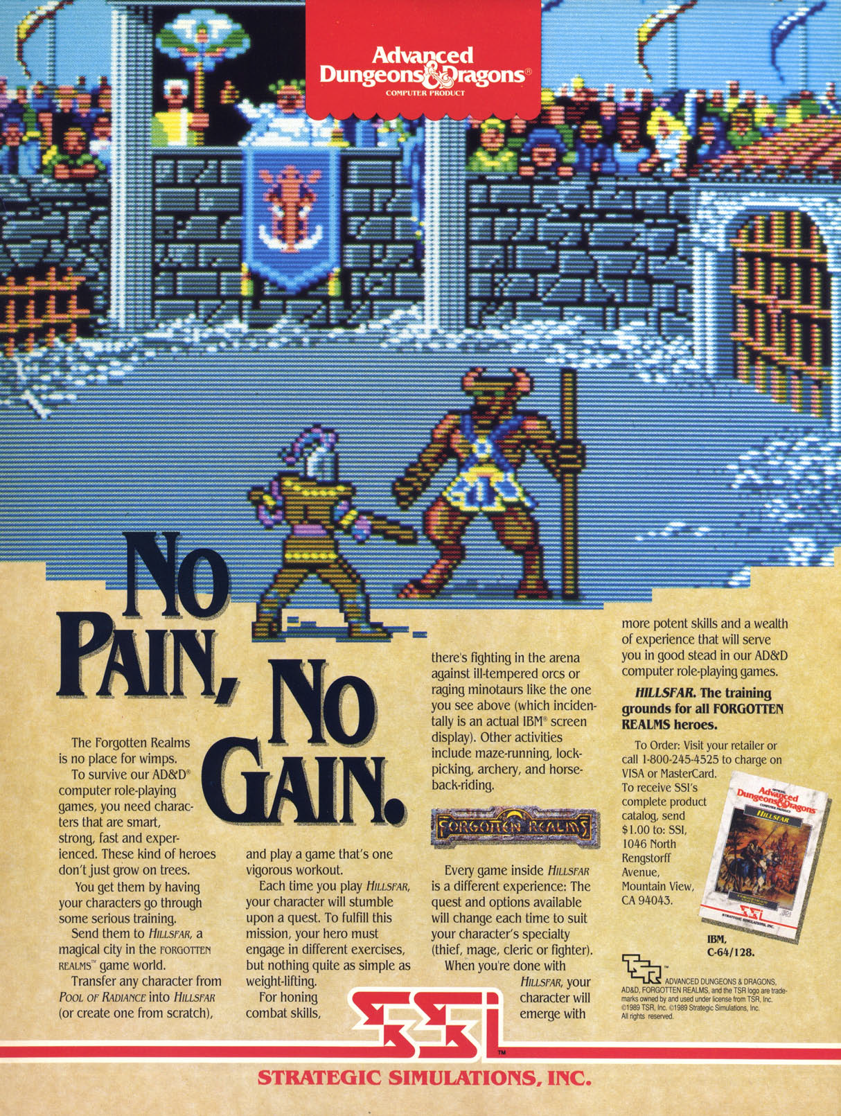 AD&D Hillsfar Print Ad Classic video games, Video