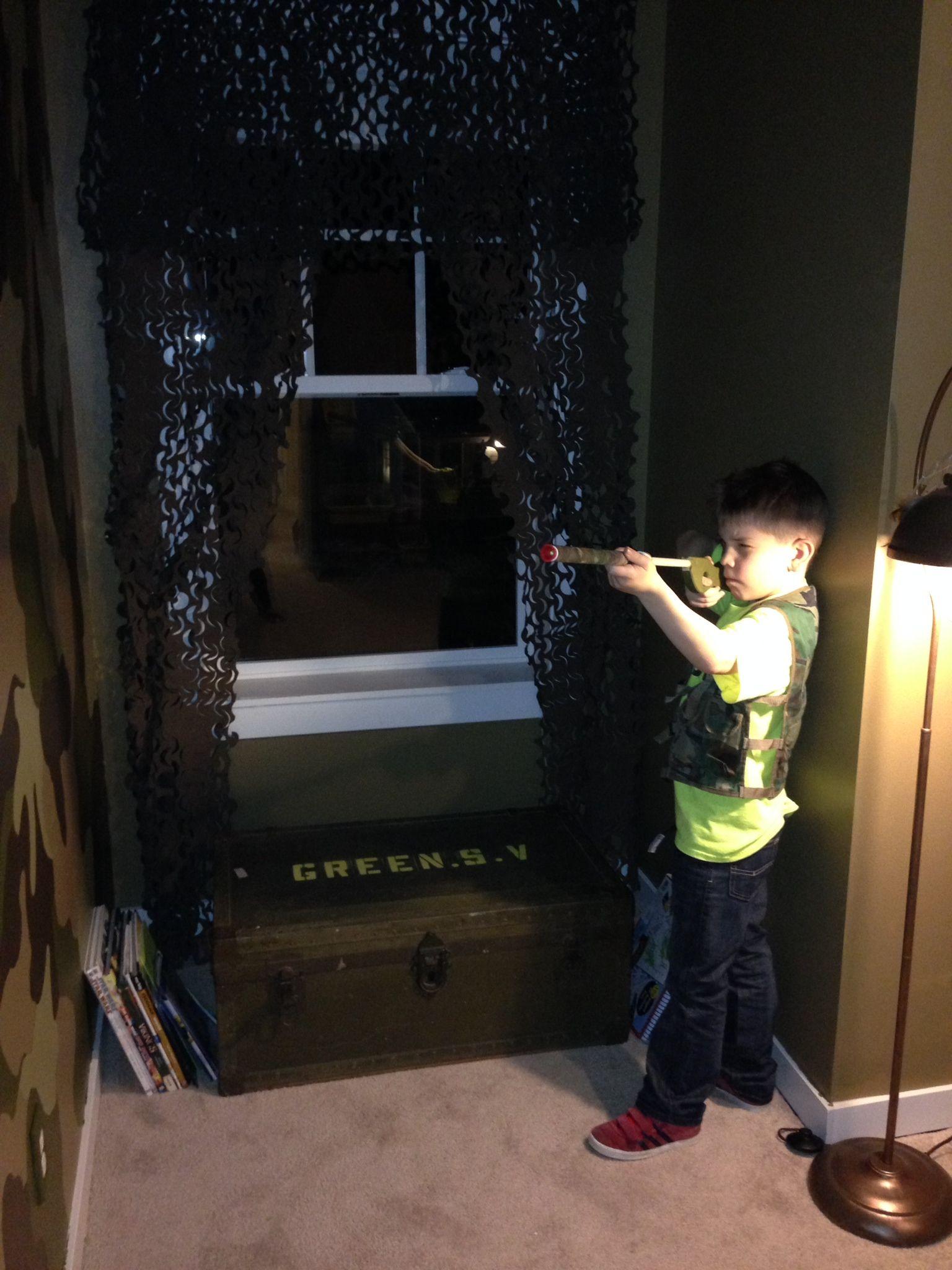 My little soldiers new bedroom  Camo wall, Foot locker as