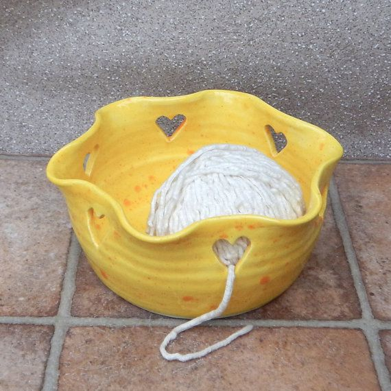 Yarn bowl knitting or crochet ....hand thrown pottery