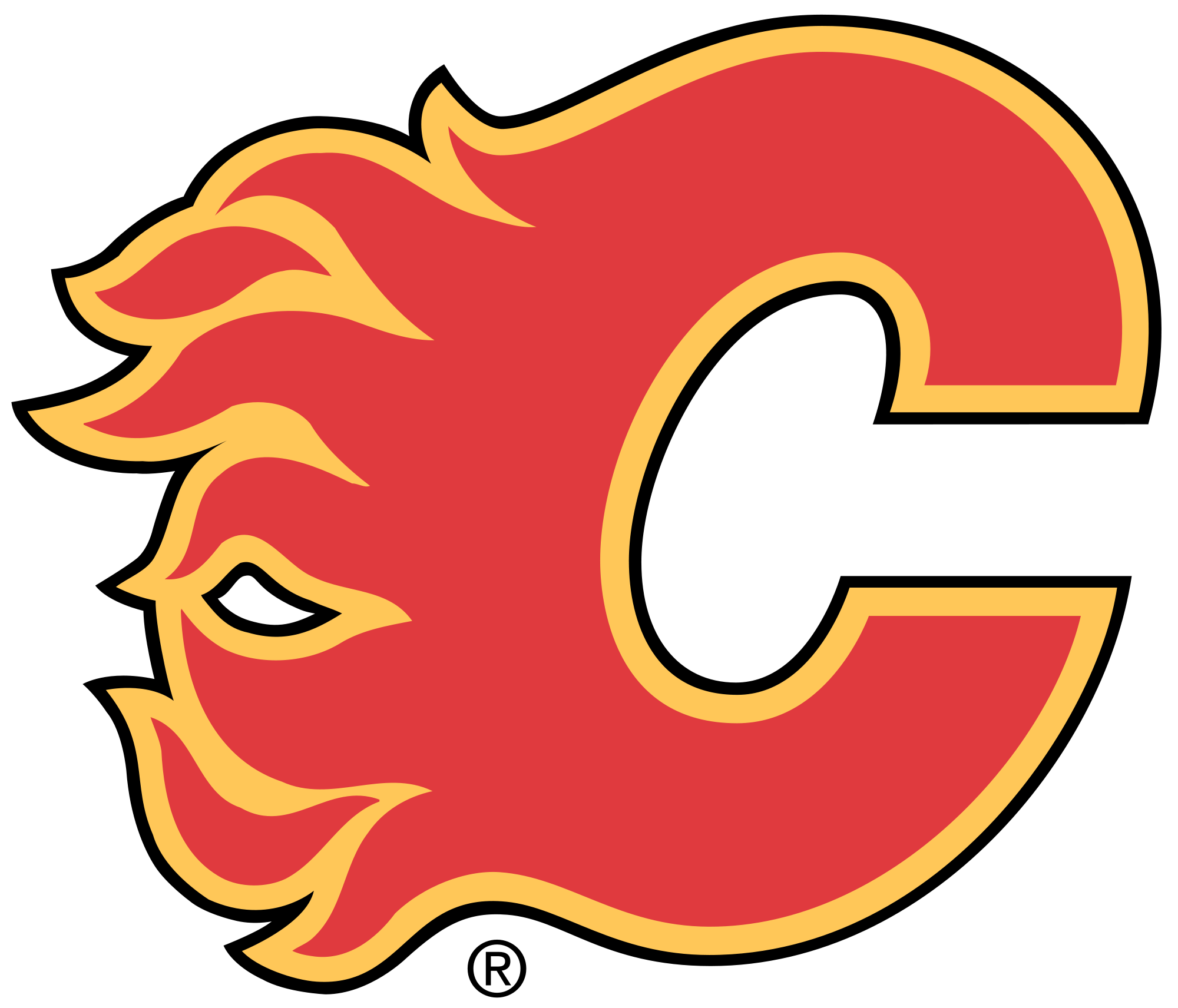 NHL Calgary Flames Logo Wallpaper Flames hockey, Calgary