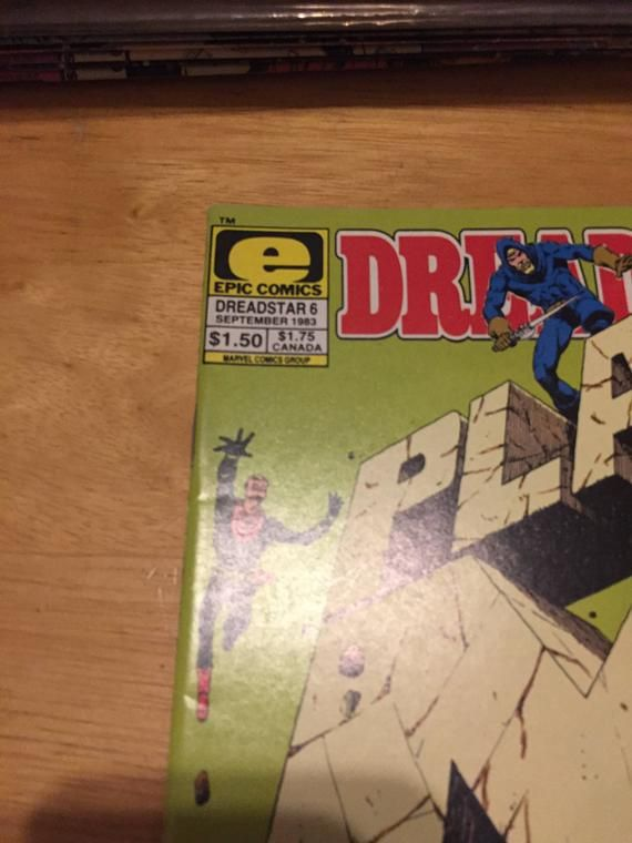 Hi Thank you for coming to my shop. Epic Comics Dreadstar Plan M (1992) Vintage Rare Comic Book - Epic ComicsI don't have a specific grade so look to photos for areas of wear, tear and condition. Ask me any questions and I'll give my best answers! Please review photos and feel free to ask me any questions you might have. Item will be shipped in 1 business day. Thanks for Stopping by and be sure to check out my other ads!