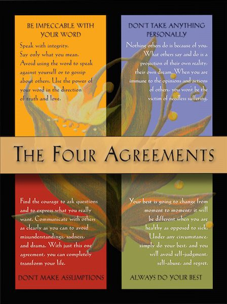 The Four Agreements Poster | Inspiring and Uplifting | The ...