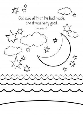 Creation Free Coloring Page Bordados Bible Coloring Pages