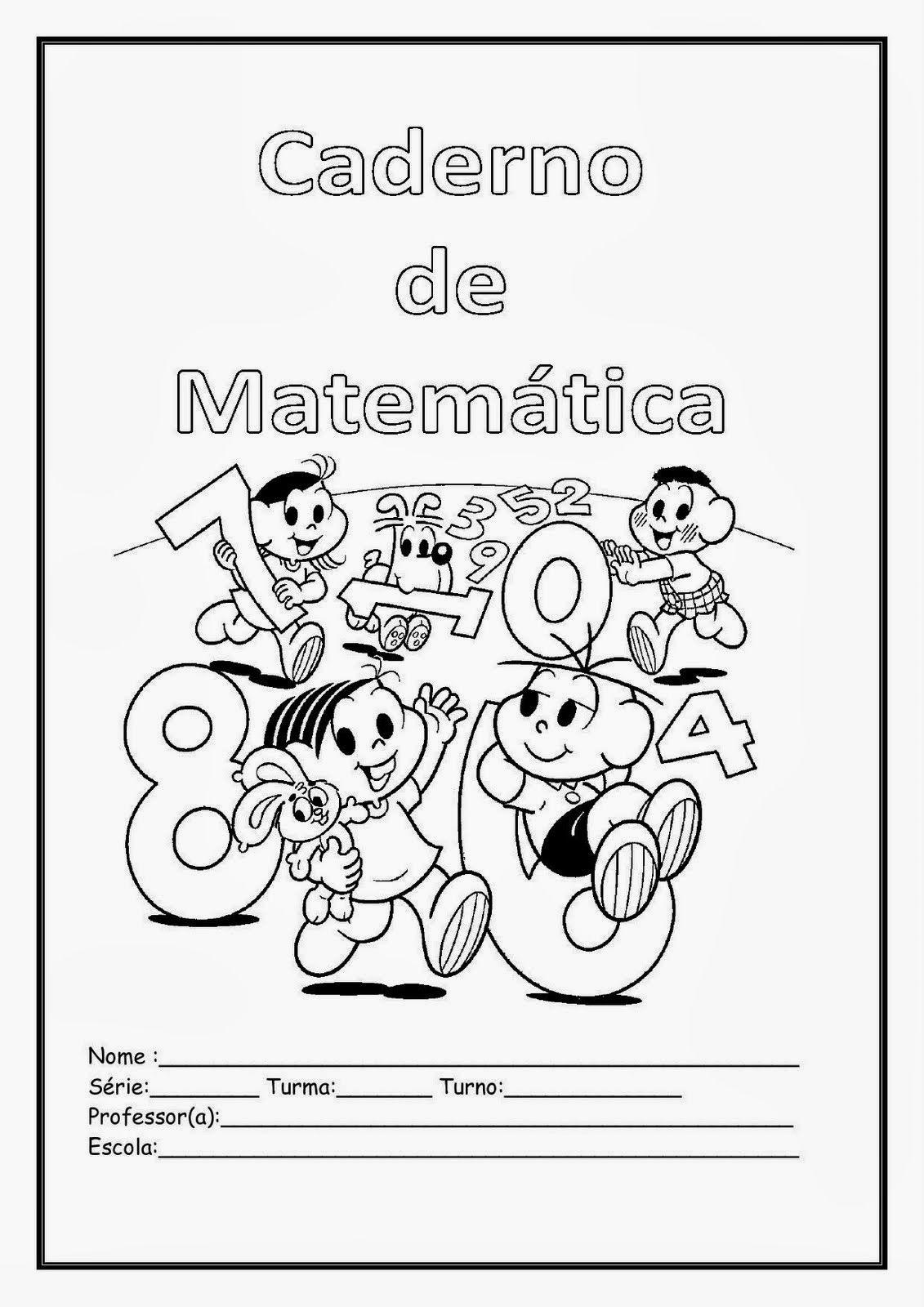 Capa Caderno De Matematica Turma Da Monica Cadernos De