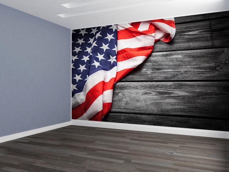 American Flag Wallpaper Peel and Stick Mural