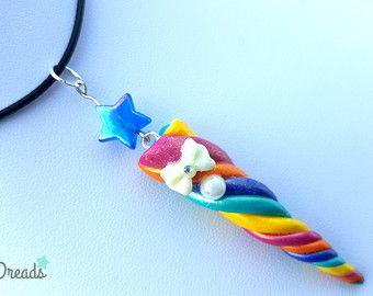 a9c9051b5ec8 Colgante de collar unicornio unicornio cuerno collar