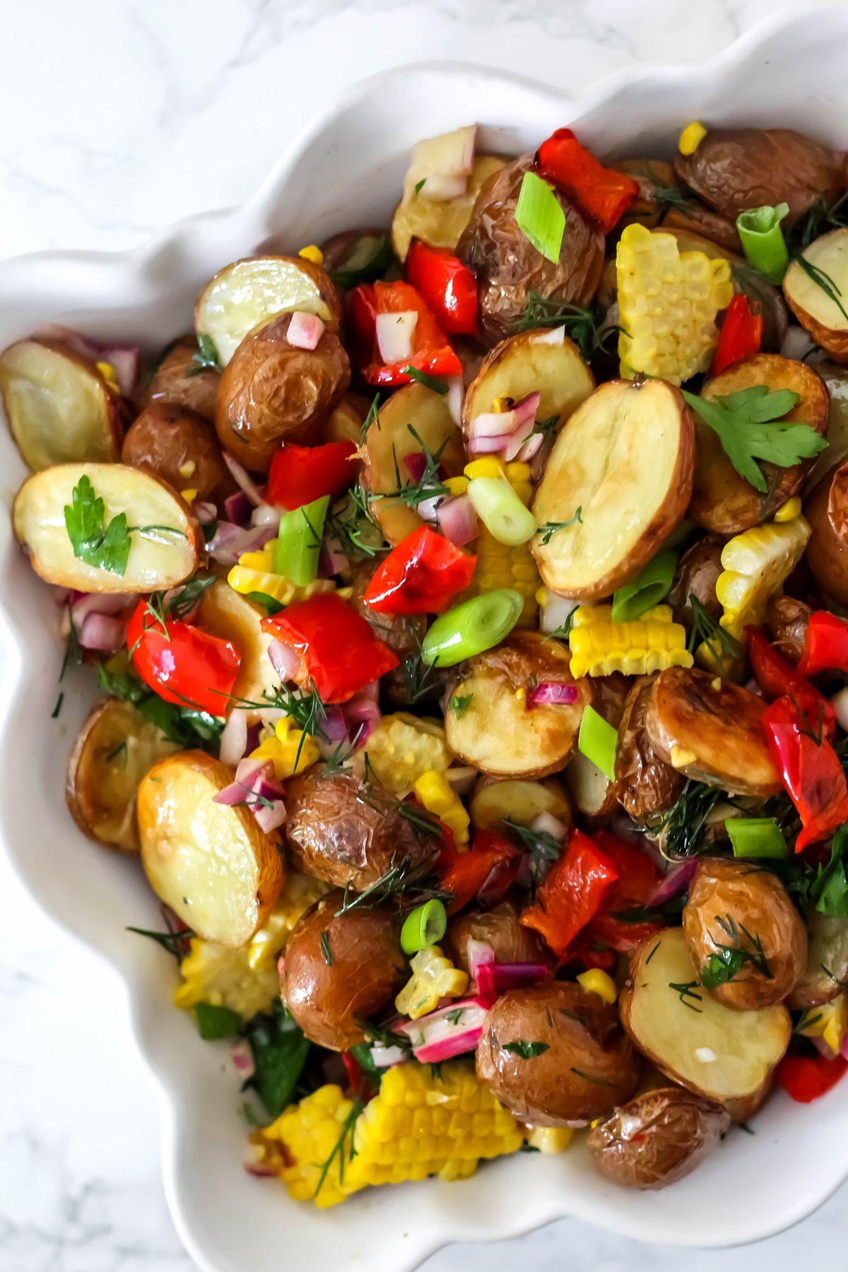 Roasted Corn And Potato Salad
