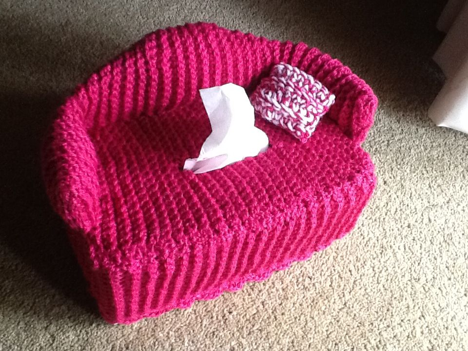 Couch tissue box cover crochet pattern free tissue box