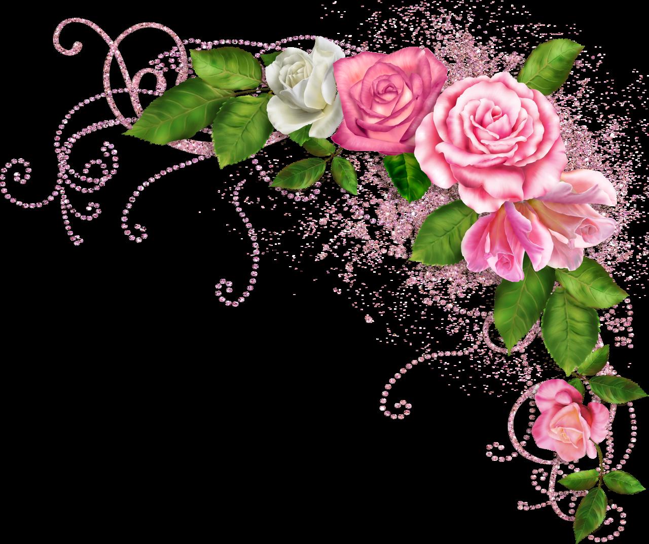 Гуляем, открытка виньетки из цветов