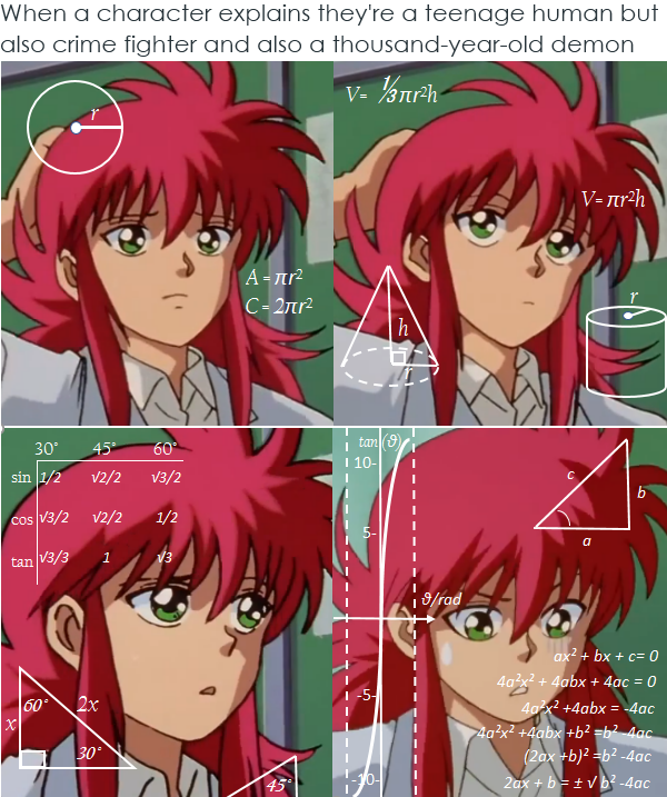 Yu Yu Hakusho Memes -Though Kurama Does It Well. (eyeing