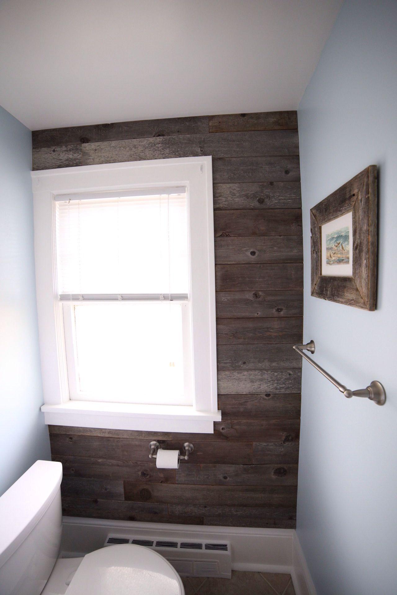Reclaimed Cedar Accent Wall Wood Bathroom Dream Home