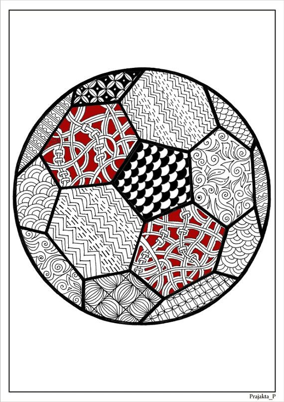 Adult coloring page football coloring page for adultssoccer ball