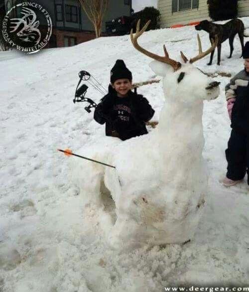 Snow man hunting deer redneck | deer hunters only | Hunting