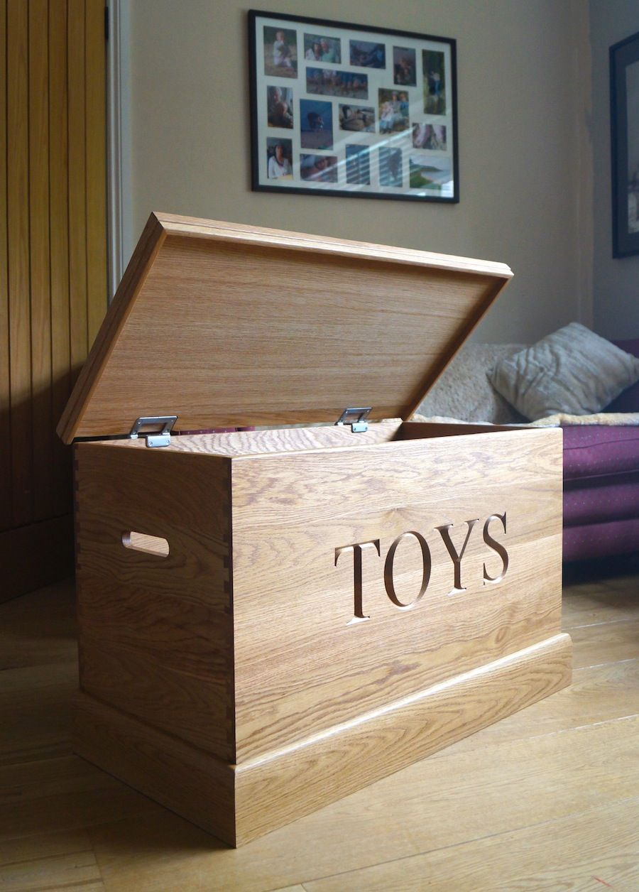 Hand Made Personalised Toy Boxes Makemesomethingspecial Wood Toy Box Oak Toy Box Wooden Toy Boxes