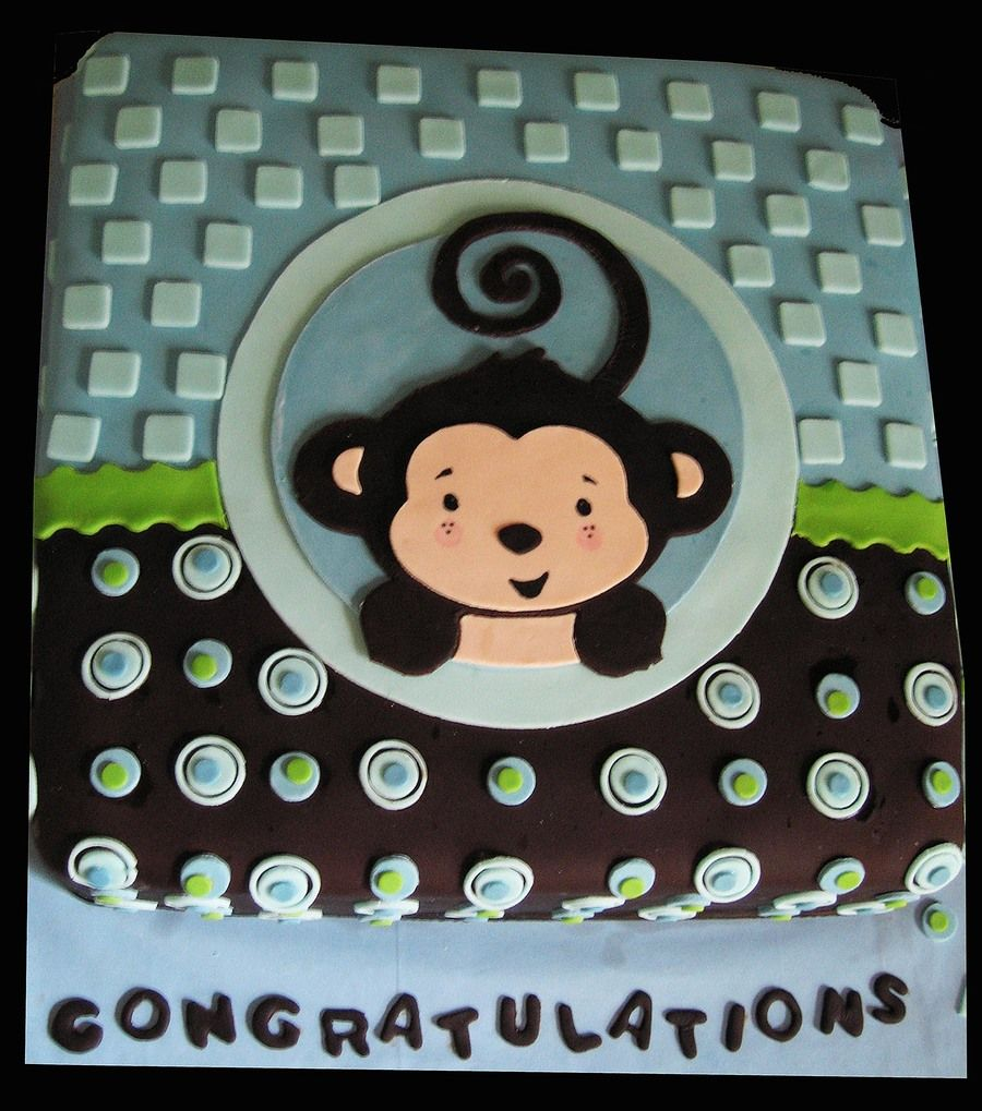 monkey boy baby shower cake cakes pinterest baby showers monkey