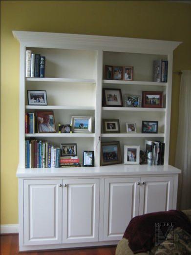 built in bookshelves bookshelves pinterest bookcase building rh pinterest com built in bookcase using stock cabinets built in bookcase using stock cabinets