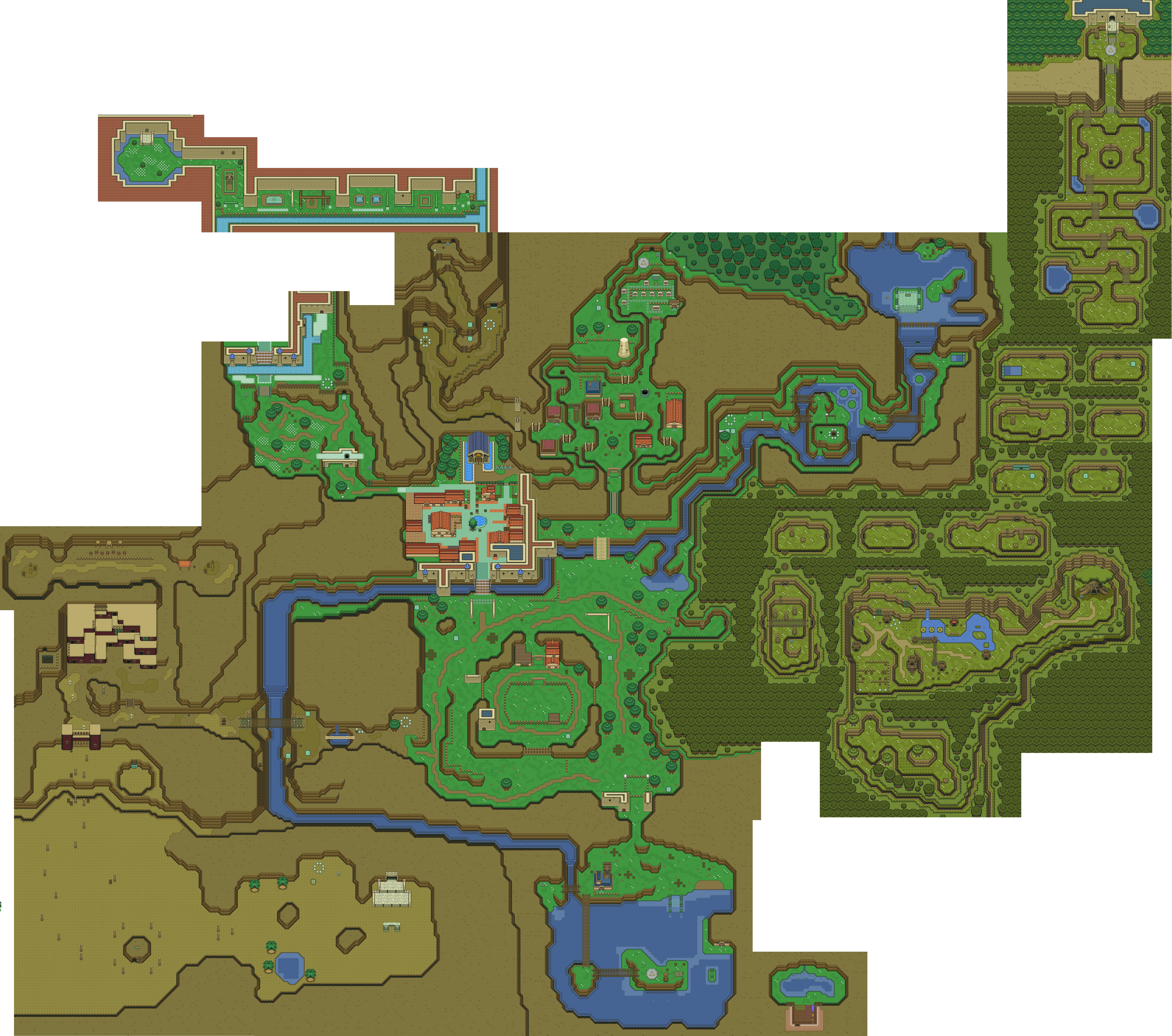 Ocarina Of Time Map Ocarina Of Time map with A link to the Past graphics | Legend of