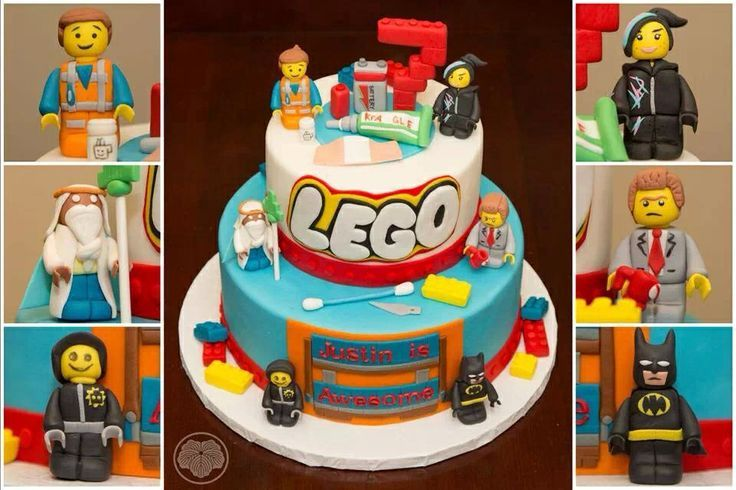 Edible Sugar Lego The Movie Cake Topper Boys Birthday Emmet Batman - Lego birthday cake decorations
