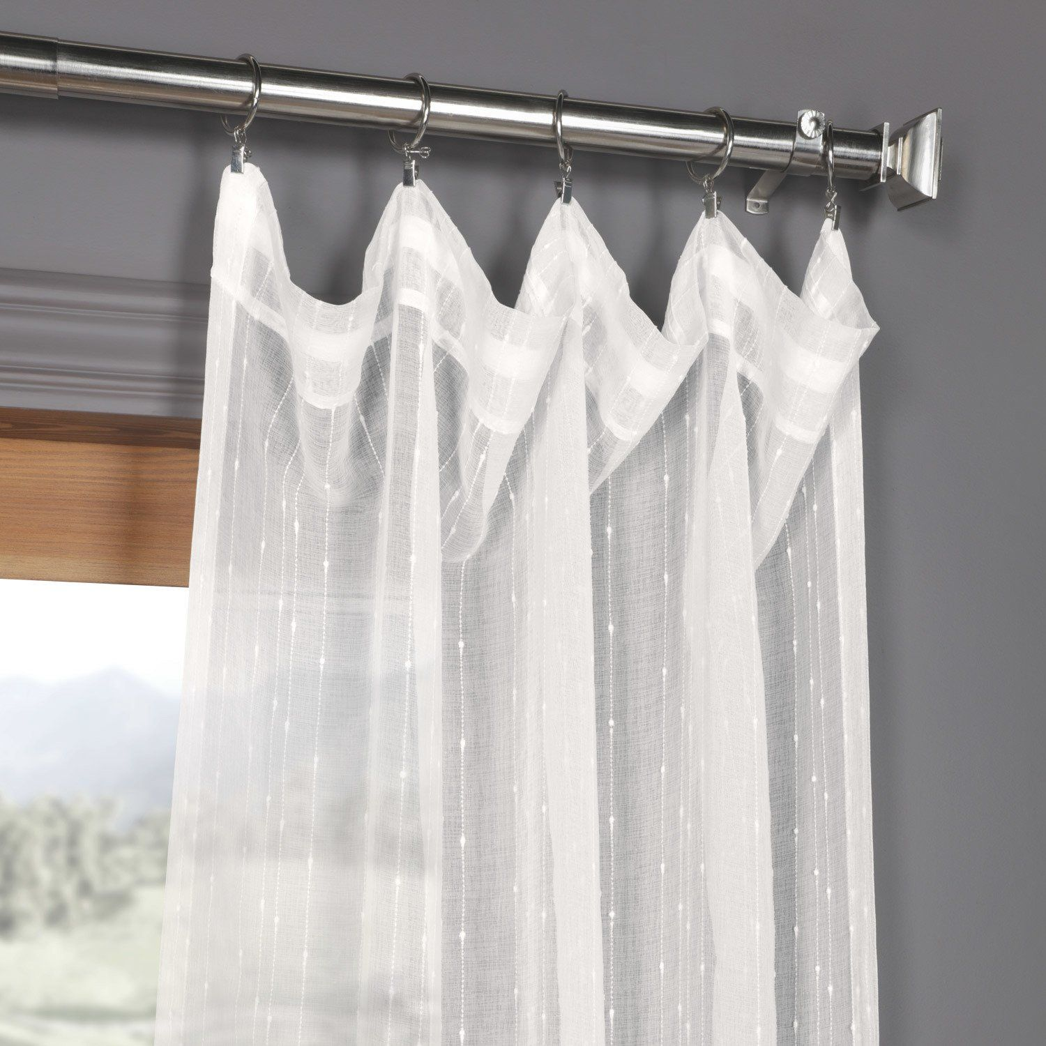 Exclusive Fabrics Montpellier Striped Linen Sheer Curtain In 2020
