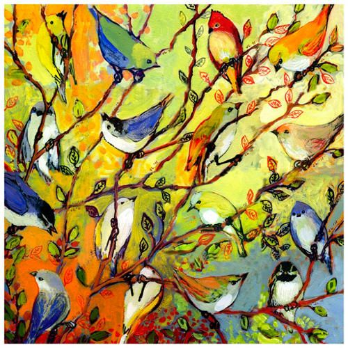 Birds outdoor wall art