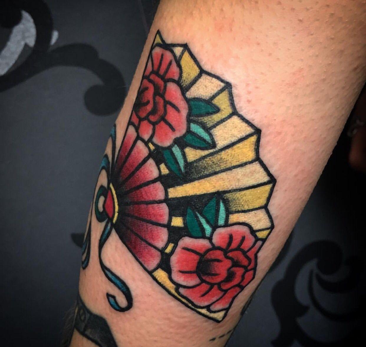 Tattoos, Traditional Tattoo, Fan