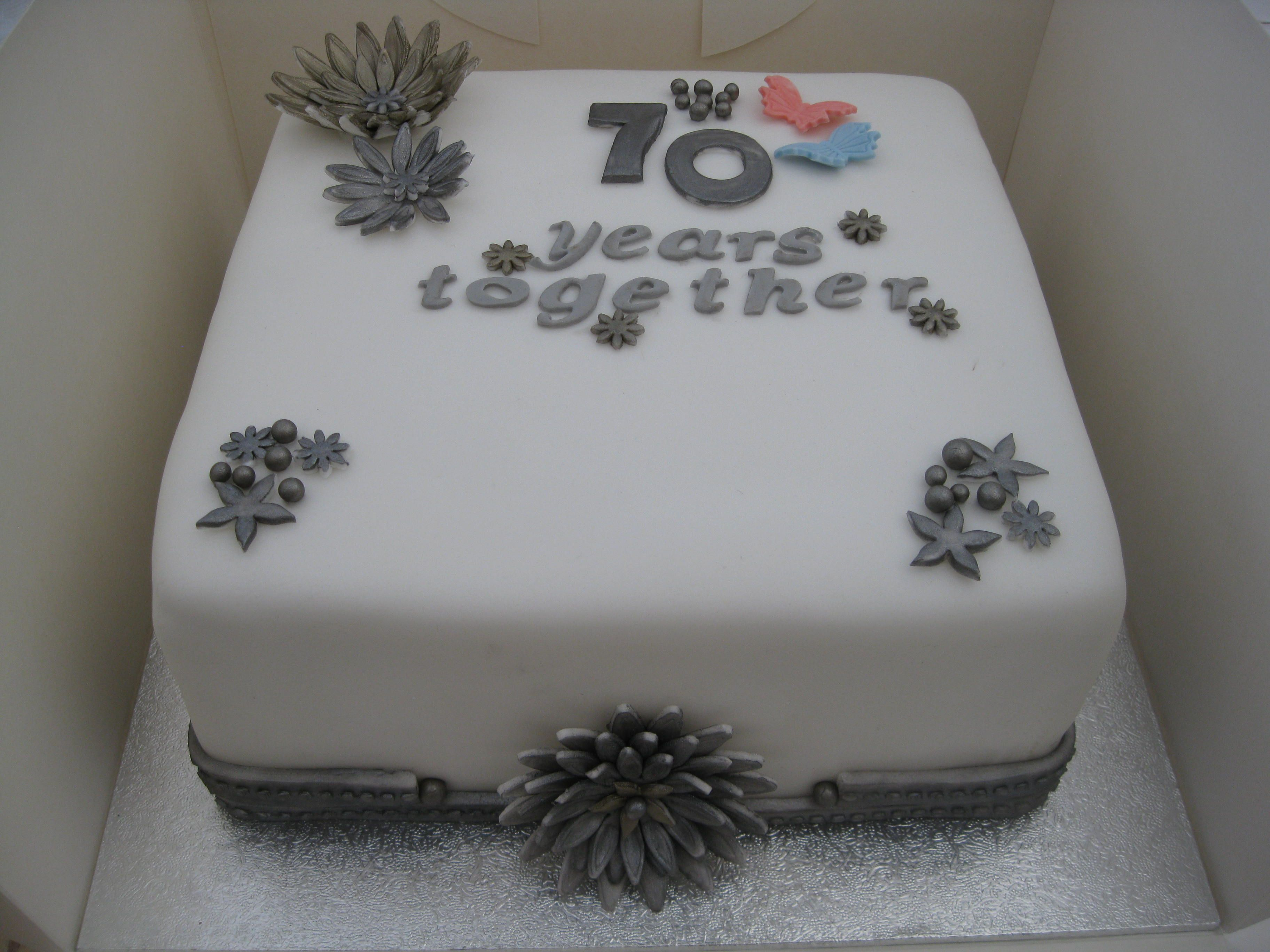 Platinum (70th) Wedding Anniversary Cake 70th wedding