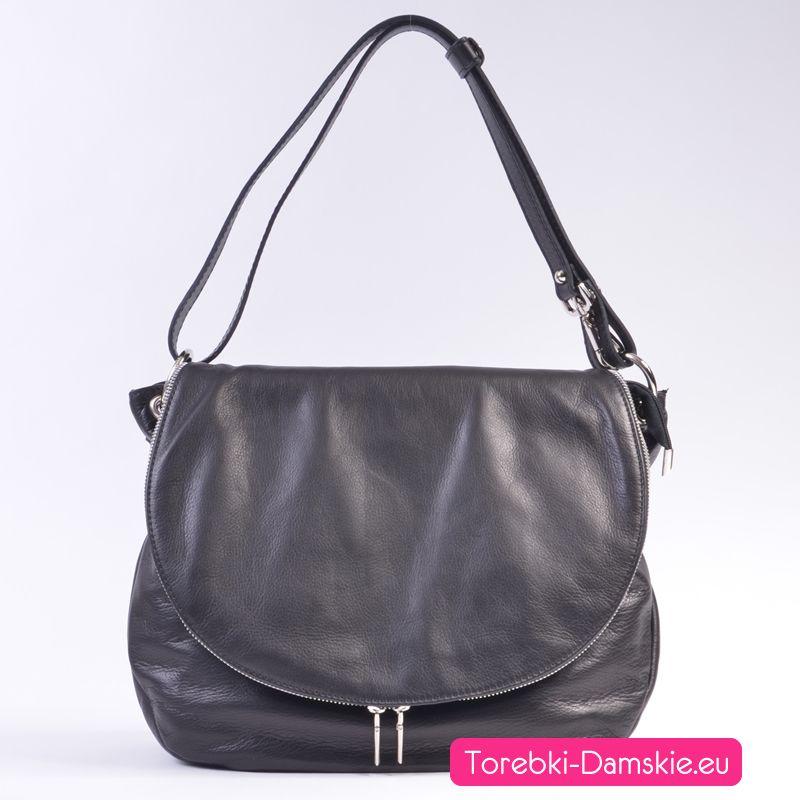 Nowy Model Torebki Skorzanej Listonoszka Z Klapa Polokragla Wykonana W 100 Z Miekkiej Skory Produkt Wloski Pakowna Leather Leather Backpack Saddle Bags