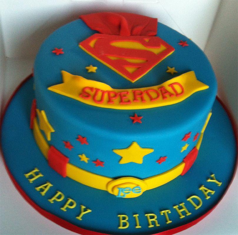 SuperDad for my son Lee Dad cake, Dad birthday cakes