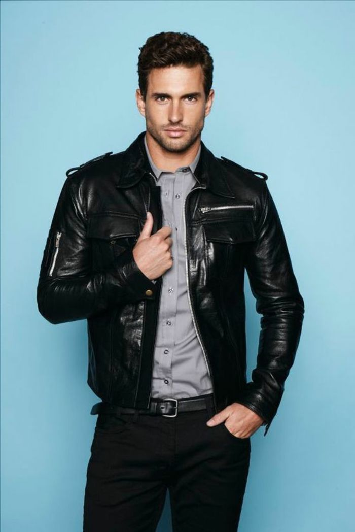 trouvez votre mod le de veste en cuir homme leather jackets leather men and men 39 s jacket. Black Bedroom Furniture Sets. Home Design Ideas