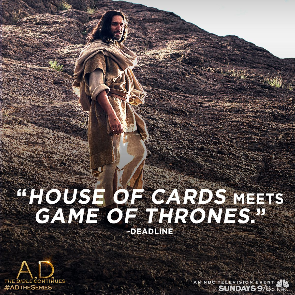 It's epic storytelling on a grand scale. An all new episode of A.D. The Bible Continues premieres tonight at 9/8c on NBC. | A.D. The Series