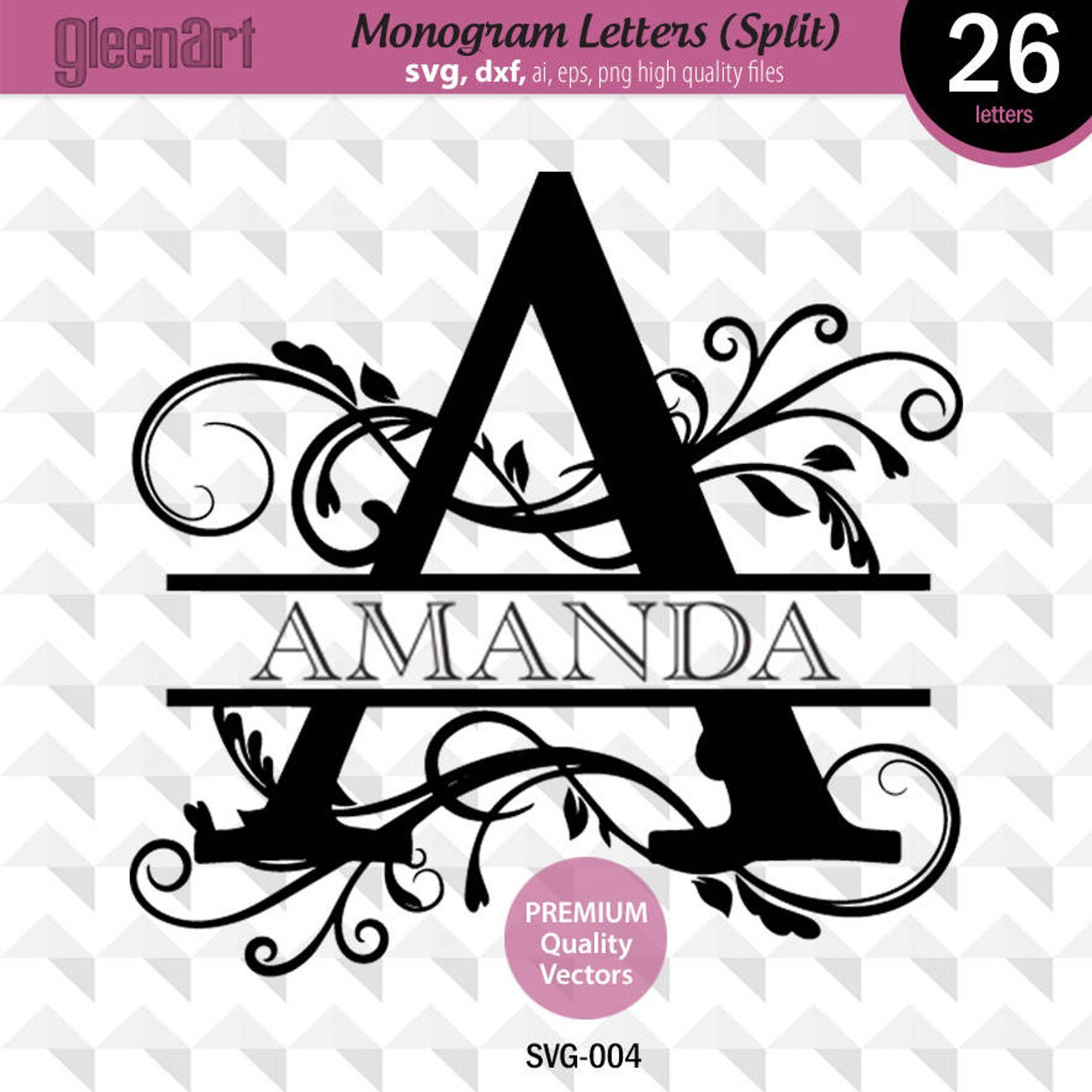 Split Monogram svg, Monogram svg, Split letter svg, Split
