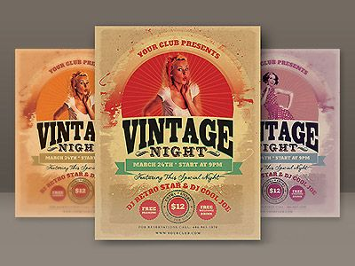 Vintage Party Flyer by CruzineDesign