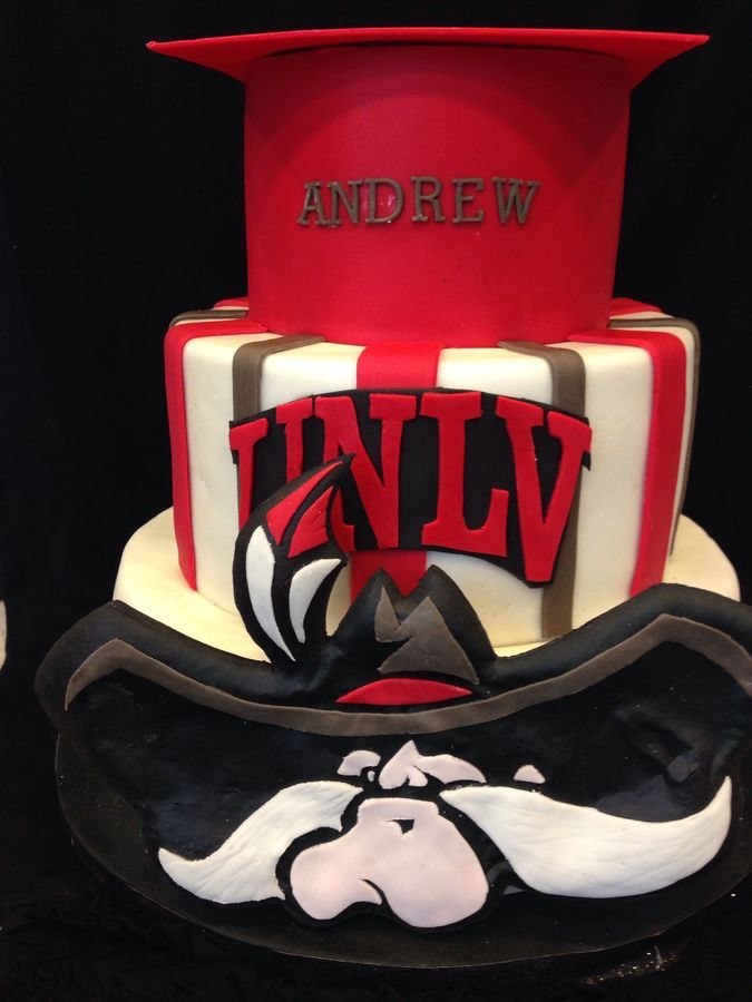 UNLV black and red graduation cake | So Many Cakes, So Little Time ...