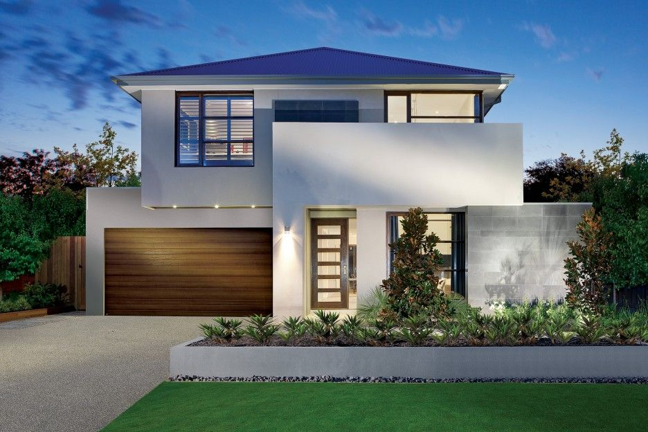 luxurious front yard design of modern house plans with