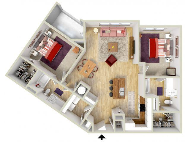 ✓ Plan 3D Cuisine Fotos 90 Best 25 Apartment Plans Ideas On