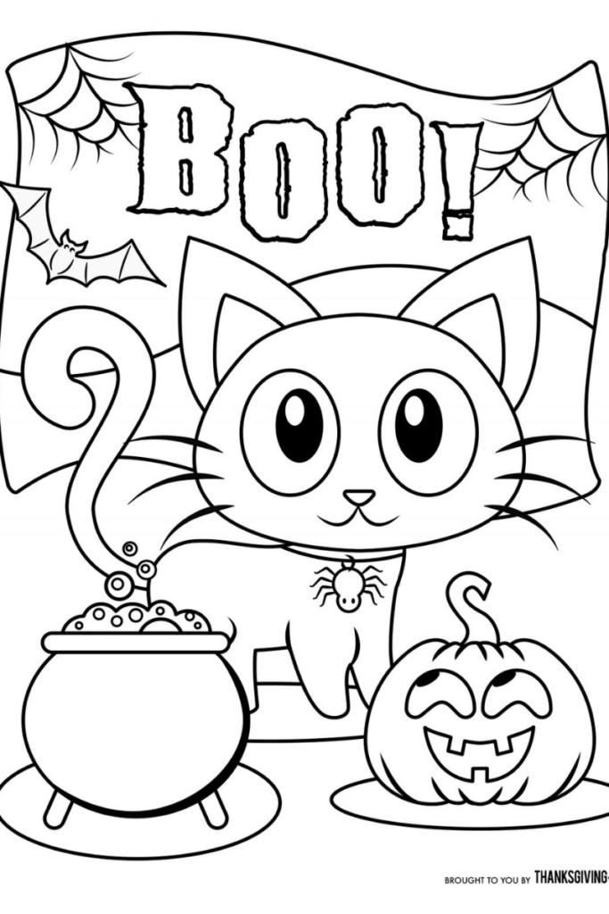Dibujos De Halloween Para Colorear Halloween Para Colorear Dibujos De Halloween Halloween Ninos Manualidades