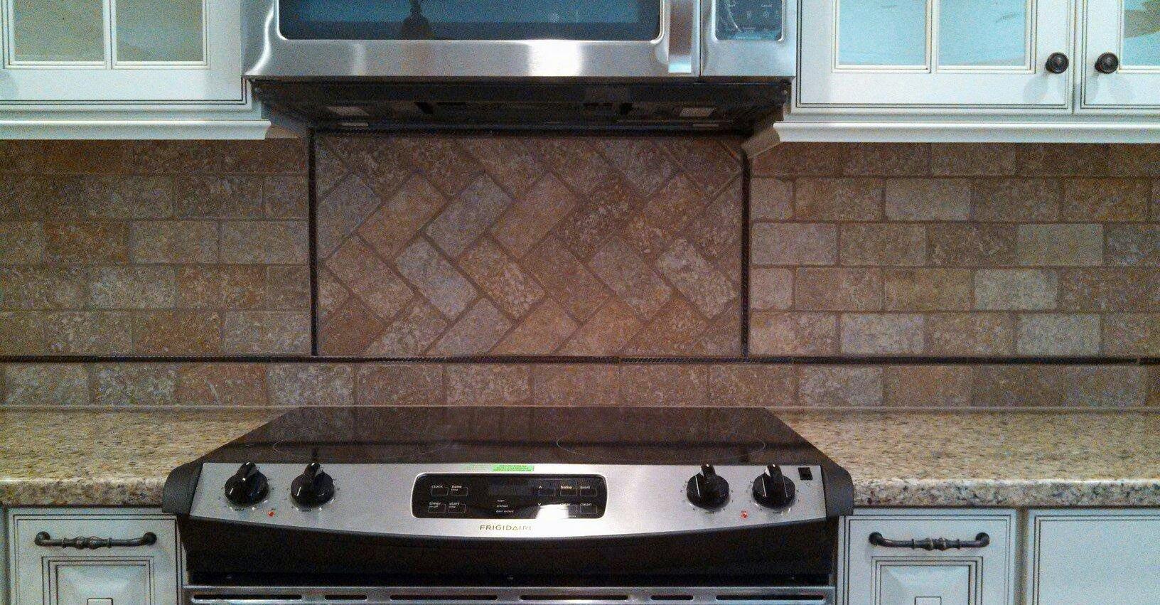 Pattern tile backsplash herringbone mosaic patterns kitchen design