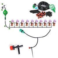 25M DIY Micro Drip Irrigation Auto Timer Self Plant Watering Garden Hose System