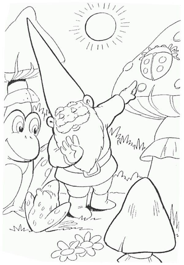 David The Gnome Show To Frog A Giant Ladybug Coloring Pages Ladybug Coloring Page Coloring Pages David The Gnome